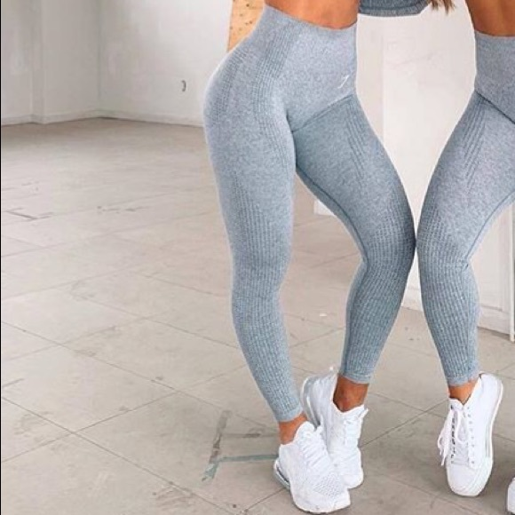 d2bf8a079086e1 Gymshark Pants | Vital Seamless Legging Steel Blue Marl | Poshmark